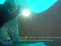 Underwater welding cutting