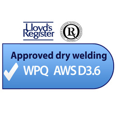 Approved dry welding WPQ AWS D3.6